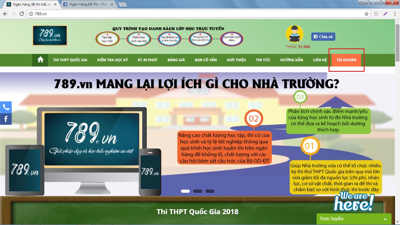 trắc nghiệm online 789.vn