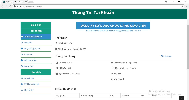 thi thử trắc nghiệm trực tuyến 789.vn