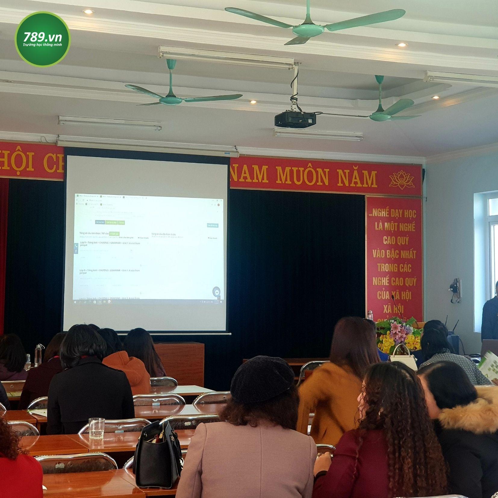 Trường học thông minh 789.vn tại phòng Giáo dục Gia Lâm, Hà Nội