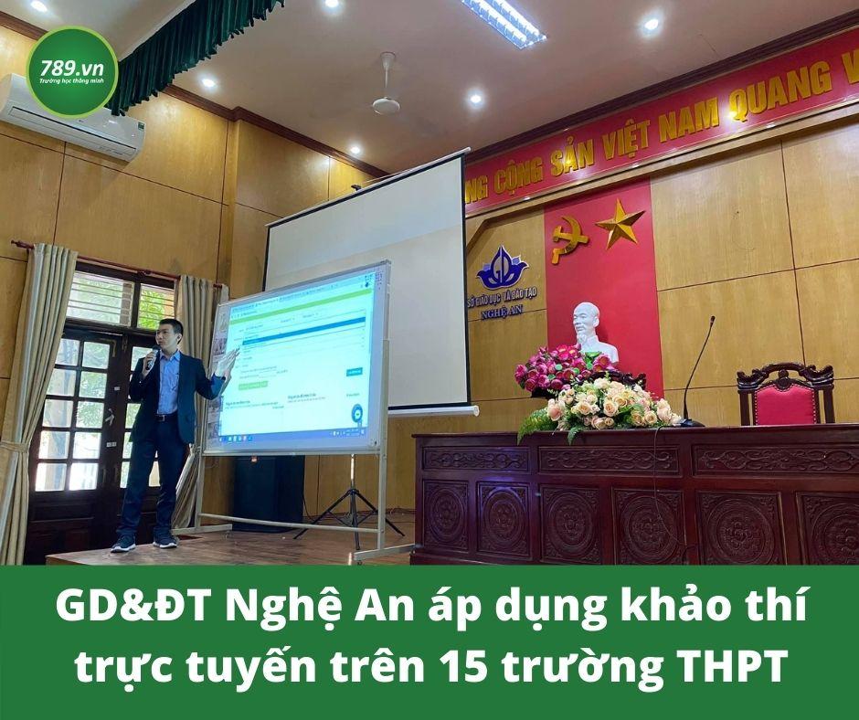 Sở Giáo Dục và Đào Tạo tỉnh Nghệ An đưa khảo thí trực tuyến vào giảng dạy thực tế