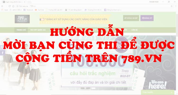 Mời thêm bạn mới tham gia học tập trên 789.vn